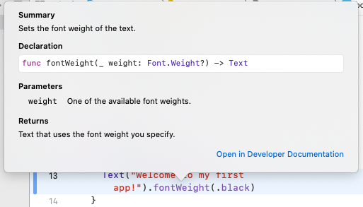 Getting more information about the fontWeight() method