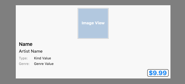 The Pop-up View after changing the Width constraint