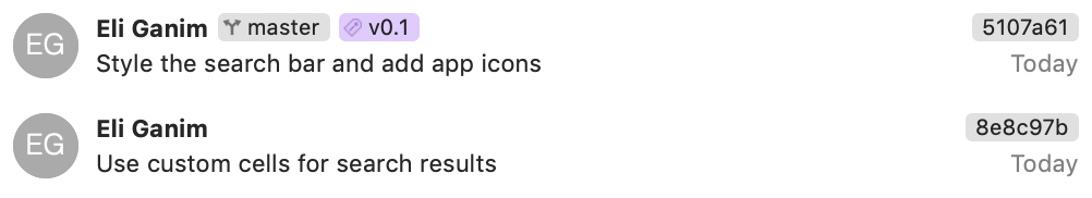 The new tag in Xcode