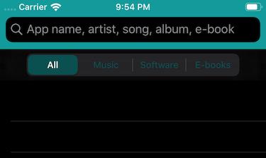 The app in dark mode
