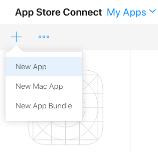 Add a new app on App Store Connect