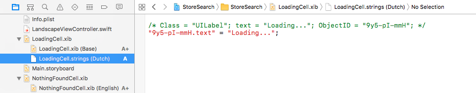 The Dutch localization is a strings file