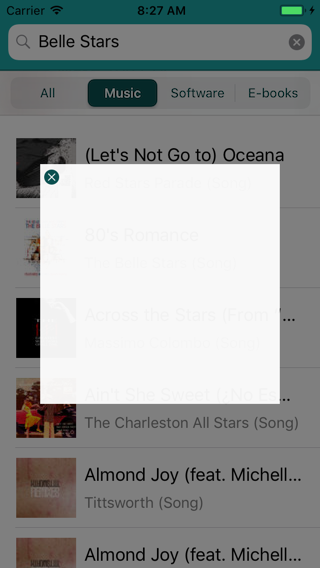 The Detail pop-up background is now see-through