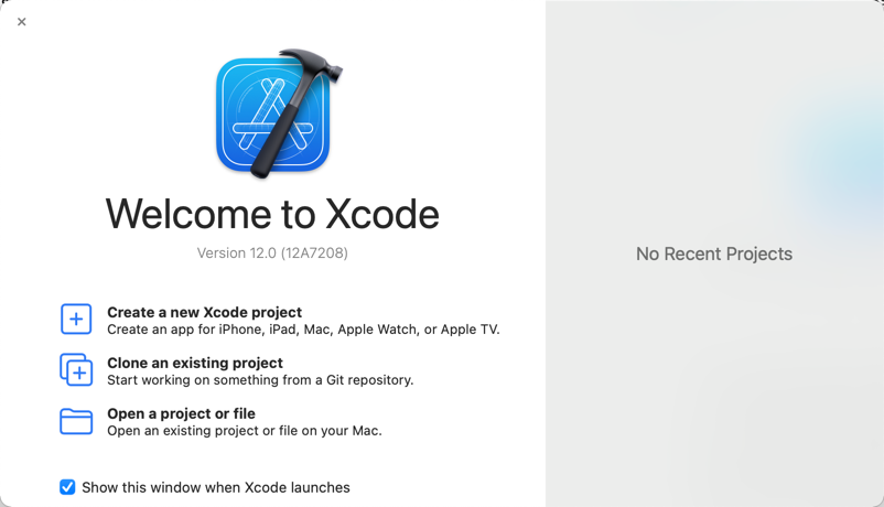 Xcode bids you welcome