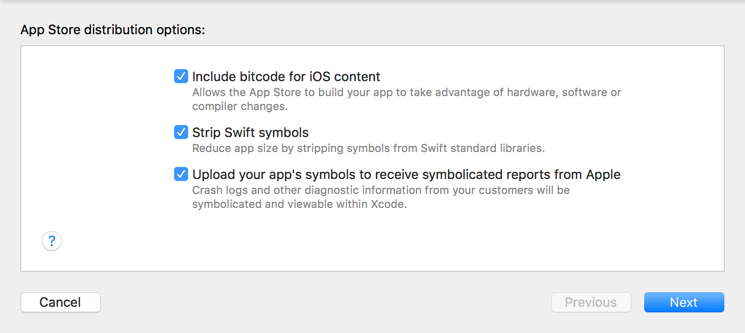 App Store distribution options