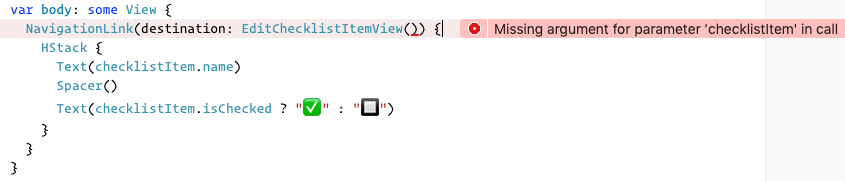 """The """"Missing argument"""" error in RowView"""