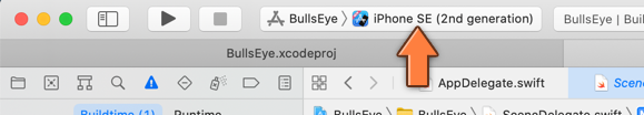 Making Xcode run the app on the Simulator
