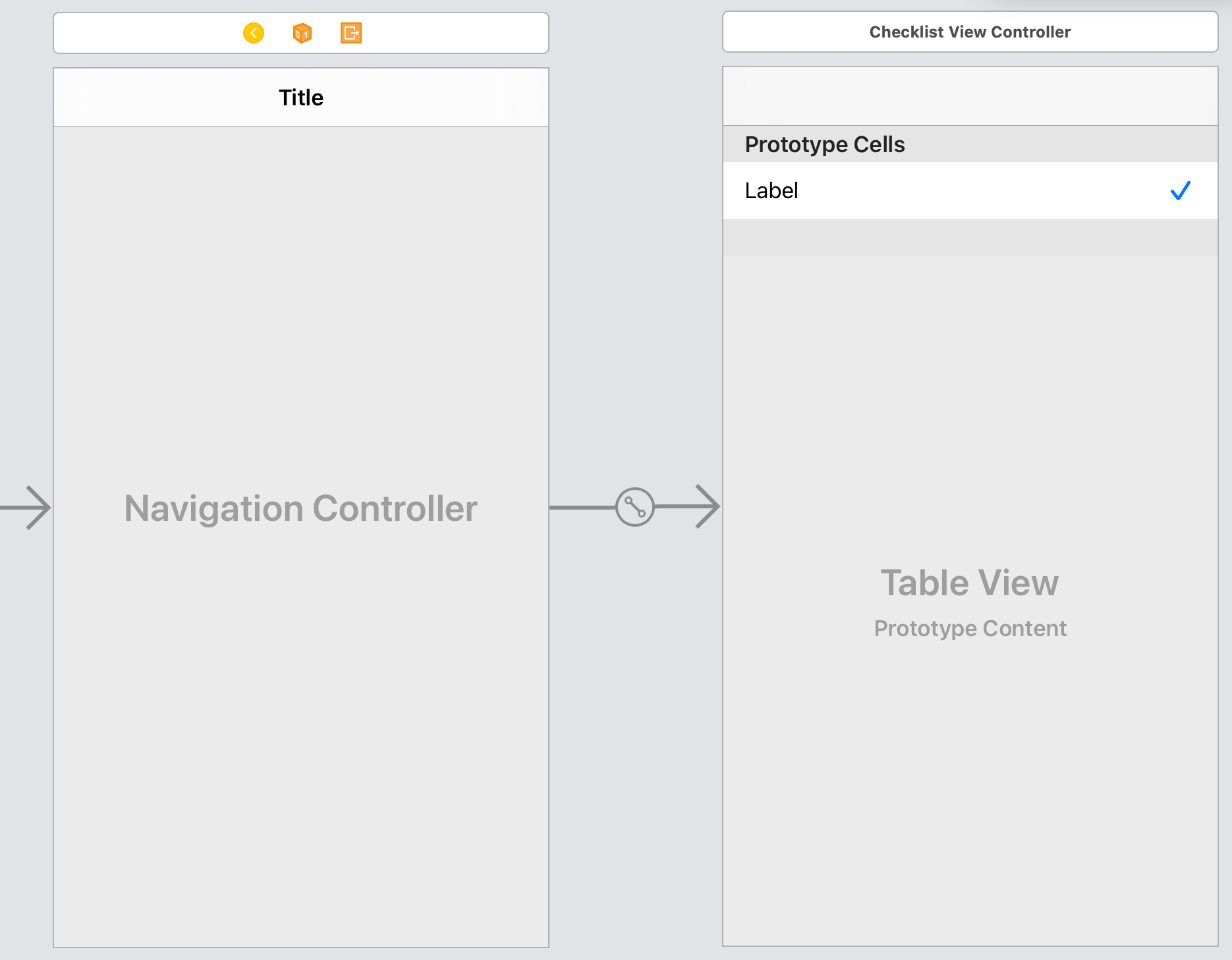 The navigation controller is now linked with your view controller