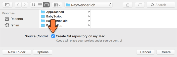 Creating a Git repository for the project