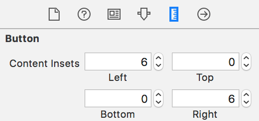 Changing the content edge insets of the button