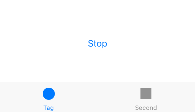 The stop button