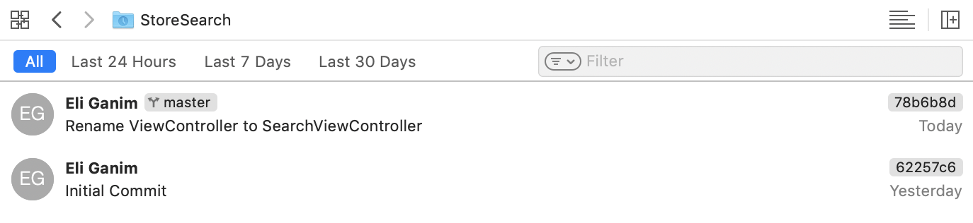 Your commit is listed in the project history