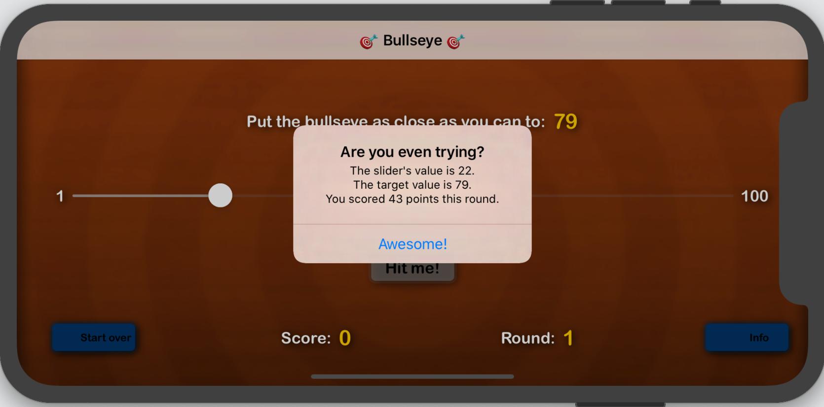 The Bullseye app displays its alert pop-up