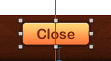 The constraints on the Close button are valid