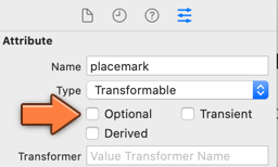 Making the placemark attribute non-optional