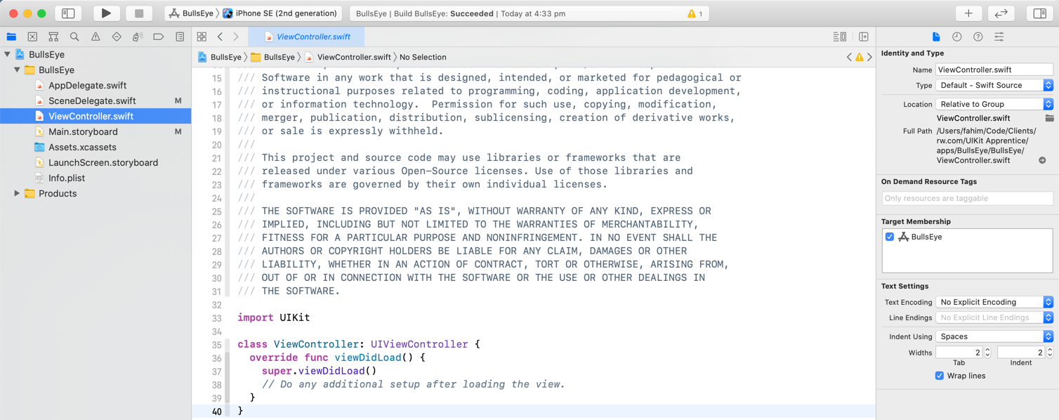 The source code editor