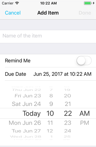 The date picker appears in a new cell