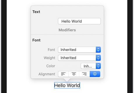 'Hello World' and the inspector