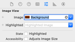 Setting the background image on the Image View