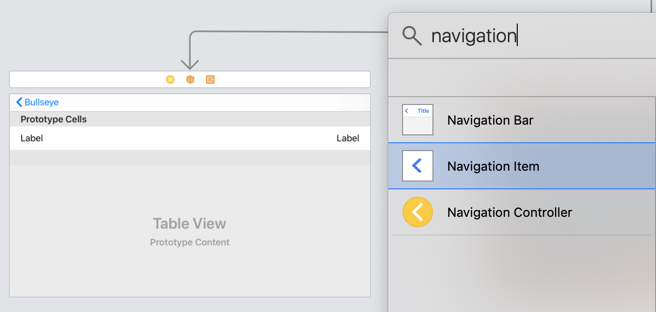 Add a navigation item to the view controller