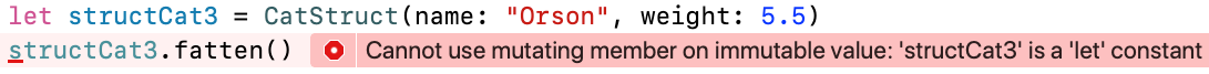 Xcode displays an error when you add the method