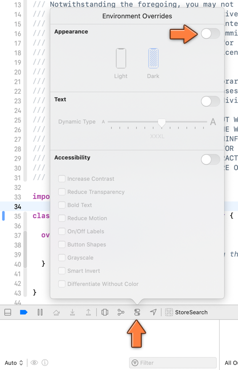 The Xcode environment overrides