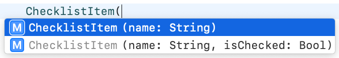 Xcode will try to help you when you're instantiating an object