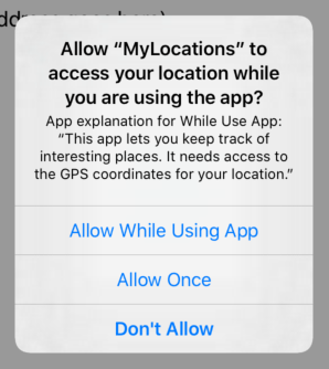 Users have to allow your app to use their location