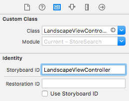 Giving the view controller an ID