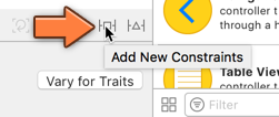 The Add New Constraints button