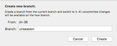 Creating a new branch
