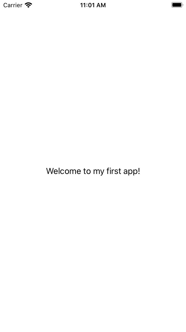 The app running in the Simulator