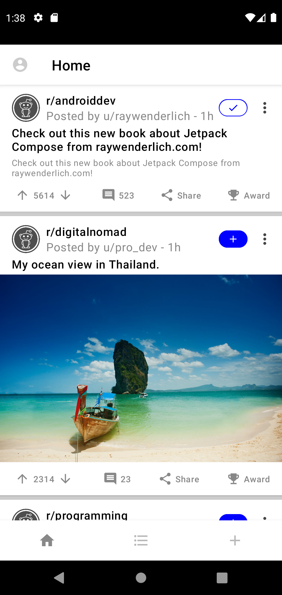 Posts With the Join Button