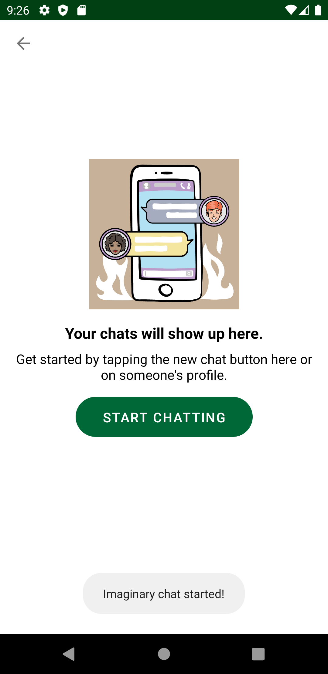 ComposeButton in Chat screen
