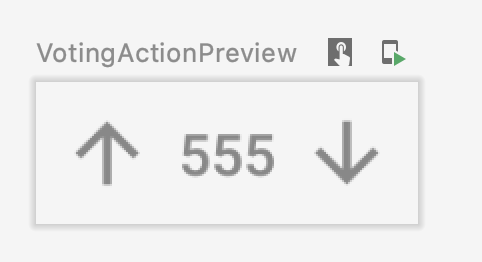 Voting Action Button Preview