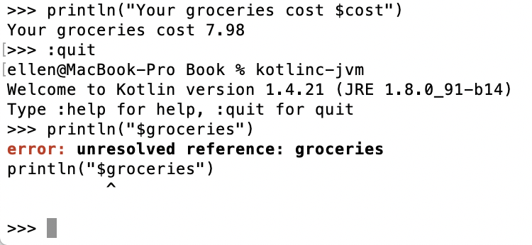 error: unresolved reference: groceries