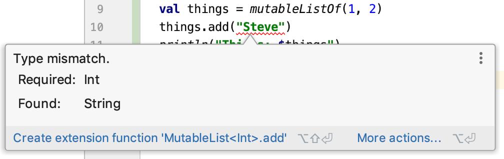 Type mismatch. Required: Int, Found: String