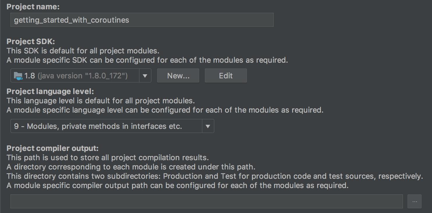 Setup your JDK configuration