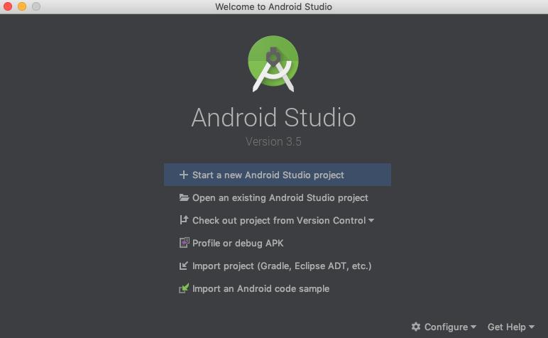 Android Studio Launcher