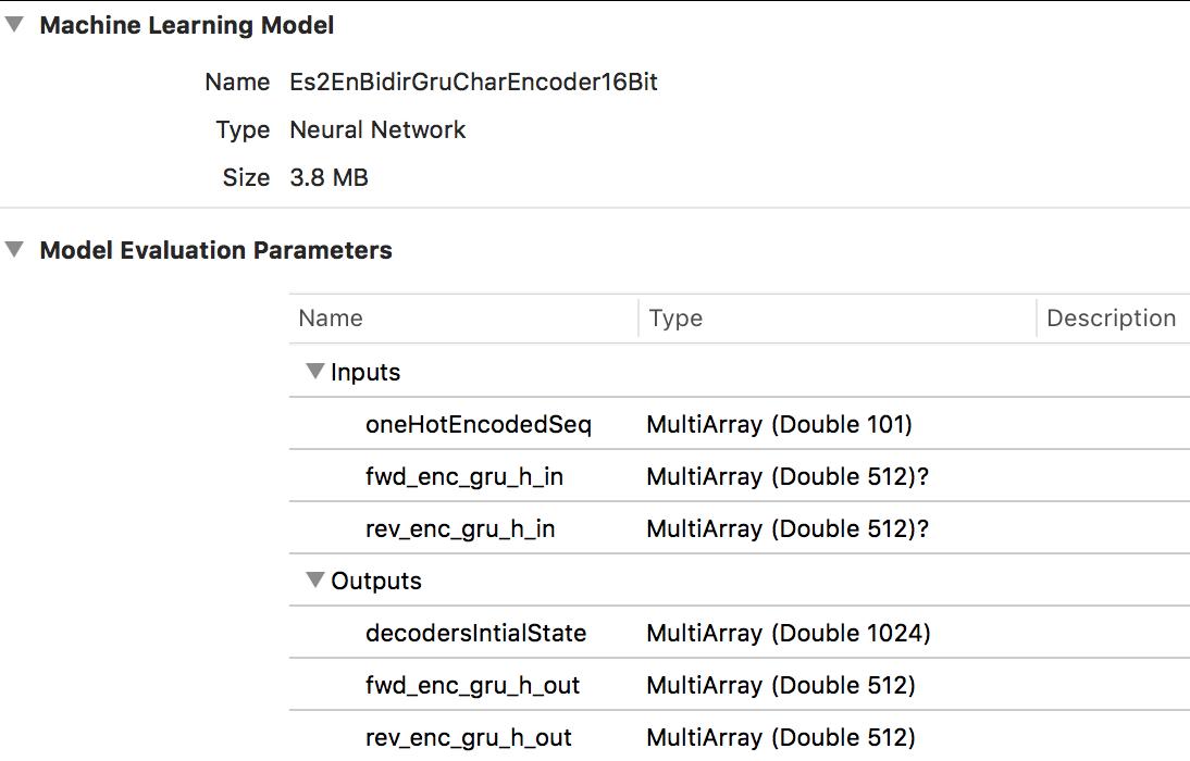 Looking at the encoder mlmodel file